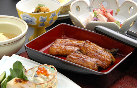 """Sakuraya's eel"" grilled by our special sauce"